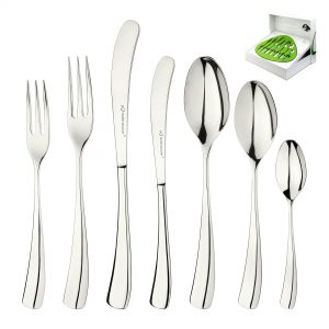 Larch Silverplate Designer 7 Piece Cutlery Set